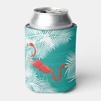 Porta-lata Serapilheira da cerceta com flamingos cor-de-rosa