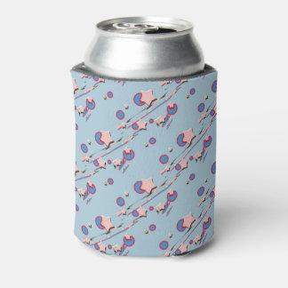 Porta-lata Shooting Stars & luva azul Pastel da cerveja dos