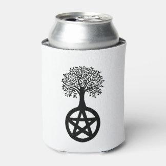 Porta-lata Silhueta e Pentacle pretos da árvore
