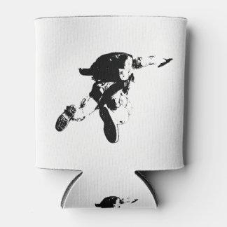 Porta-lata Skydiving preto & branco