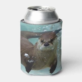 Porta-lata Sua minha natação da lontra de rio de Brown da