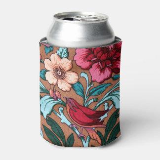 Porta-lata Tecido colorido do pássaro do vintage