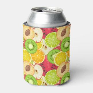 Porta-lata Teste padrão colorido da fruta do divertimento