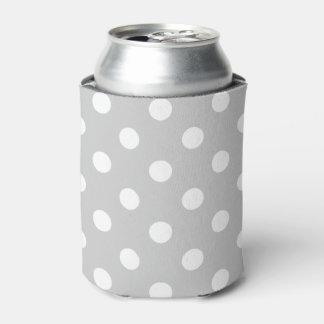 Porta-lata Teste padrão de bolinhas cinzento
