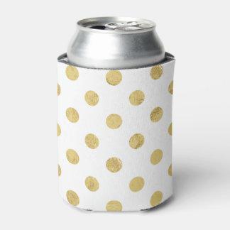 Porta-lata Teste padrão de bolinhas elegante da folha de ouro