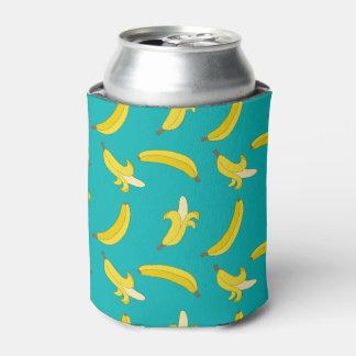 Porta-lata Teste padrão ilustrado bananas ido engraçado