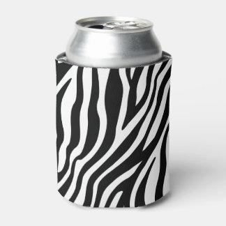 Porta-lata Teste padrão preto e branco das listras do