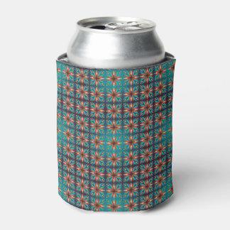 Porta-lata Teste padrão sem emenda retro geométrico abstrato