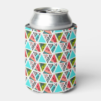 Porta-lata Teste padrão tropical abstrato colorido