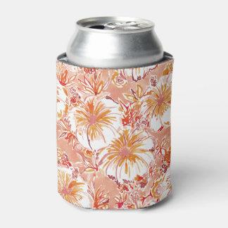 Porta-lata Teste padrão tropical do hibiscus do pêssego de