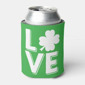 Porta-lata Trevo irlandês do amor do dia de St Patrick