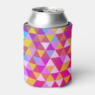 Porta-lata Triângulos da cor do polígono multi na forma