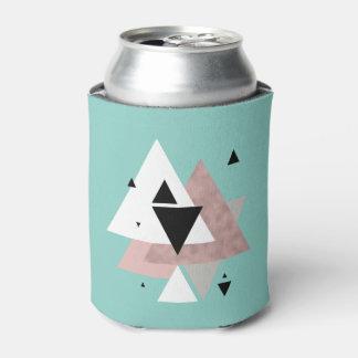 Porta-lata triângulos geométricos da hortelã cor-de-rosa