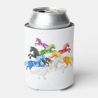 Porta-lata Unicórnios selvagens coloridos da ilustração