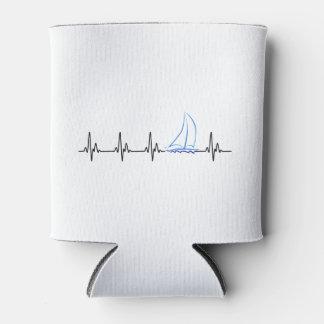 Porta-lata Veleiro engraçado da pulsação do coração da