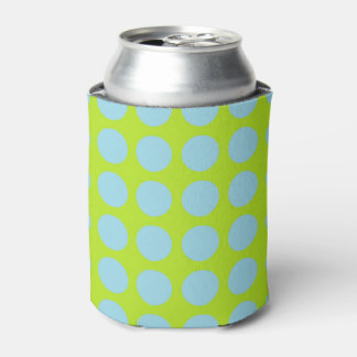 Porta-lata Verde limão azul Pastel das bolinhas
