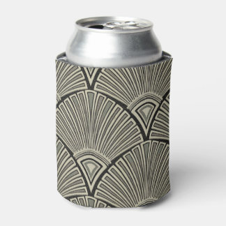 Porta-lata vintage, nouveau da arte, bege, cinza, art deco,