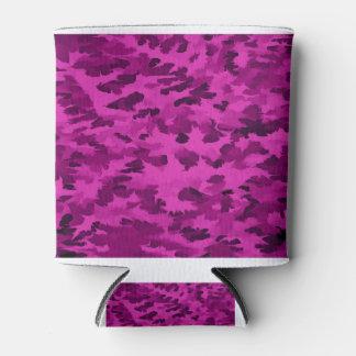 Porta-lata Violeta abstrata do pop art da folha
