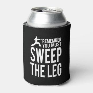 Porta-lata Você deve varrer o pé