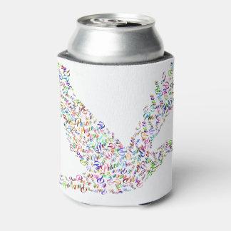 Porta-lata Vôo do pássaro da paz na harmonia e na cooperação