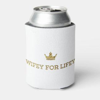 Porta-lata wifey da coroa do ouro para o lifey