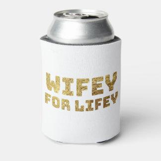 Porta-lata wifey do ouro para a vida