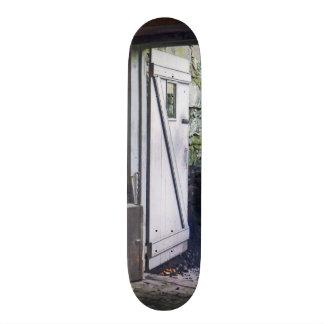 Porta traseira da loja skates
