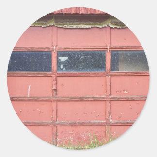 Porta vermelha da garagem adesivo