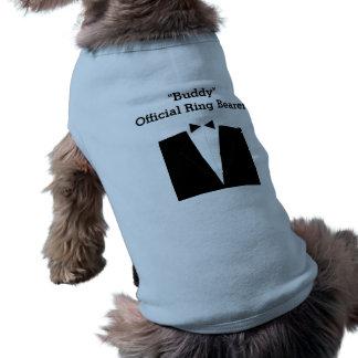 Portador de anel do animal de estimação camisa sem mangas para cachorro