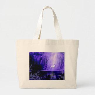 Portador dos desejos - veado branco bolsa tote grande