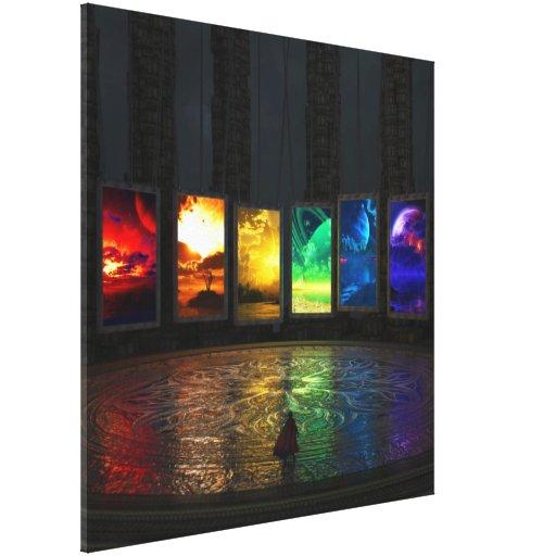 Portais (quadrado) impressão de canvas envolvida