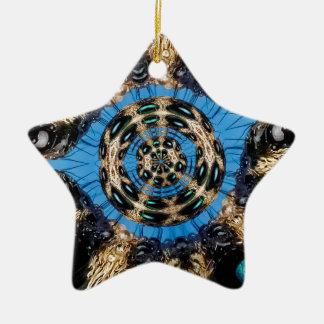 Portal psicadélico da aranha ornamento de cerâmica