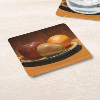 Portas copos ainda pintadas da fruta da vida porta-copo de papel quadrado
