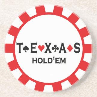 Portas copos da microplaqueta de póquer de Texas H Porta Copos De Arenito