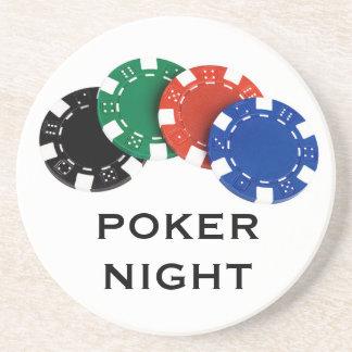 Portas copos da noite do póquer porta-copo