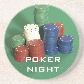 Portas copos da noite do póquer porta copos de arenito