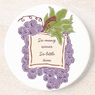 Portas copos das citações do vinho porta copo