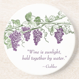 Portas copos das citações do vinho porta-copo