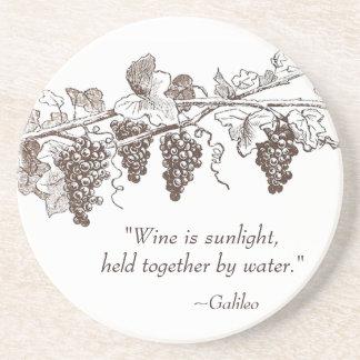 Portas copos das citações do vinho porta copos de arenito
