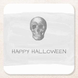 Portas copos de papel do Dia das Bruxas do crânio Porta-copo De Papel Quadrado