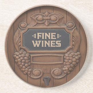 Portas copos do design do tambor de vinho porta copos de arenito