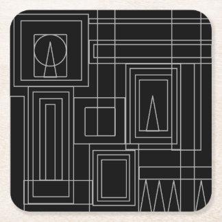 Portas copos do Monochrome do art deco Porta-copo De Papel Quadrado