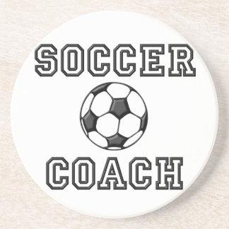 Portas copos do treinador do futebol porta copos de arenito