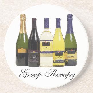 Portas copos do vinho da terapia do grupo porta copos de arenito
