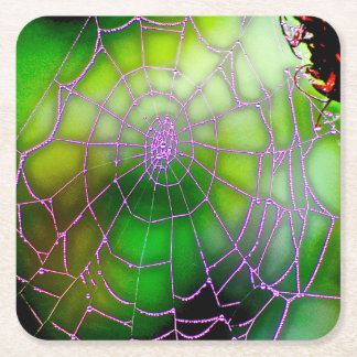 Portas copos escuras da Web Porta-copo De Papel Quadrado