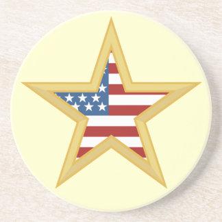 Portas copos patrióticas da estrela porta copo para bebidas