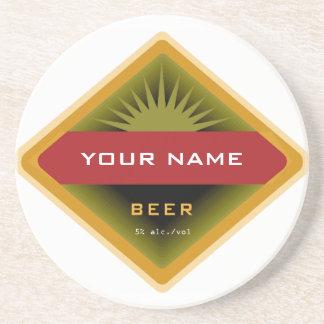 Portas copos personalizadas da cerveja porta copos de arenito