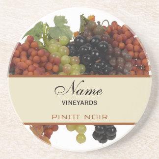 Portas copos personalizadas do vinho porta copos de arenito