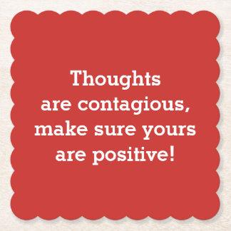 Portas copos positivas dos pensamentos porta-copo de papel