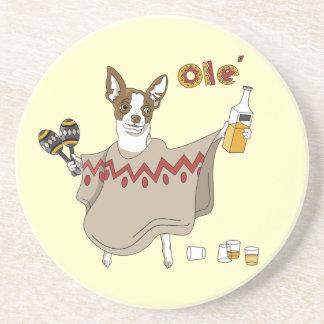 Portas copos velhos engraçadas do Tequila Porta Copos De Arenito